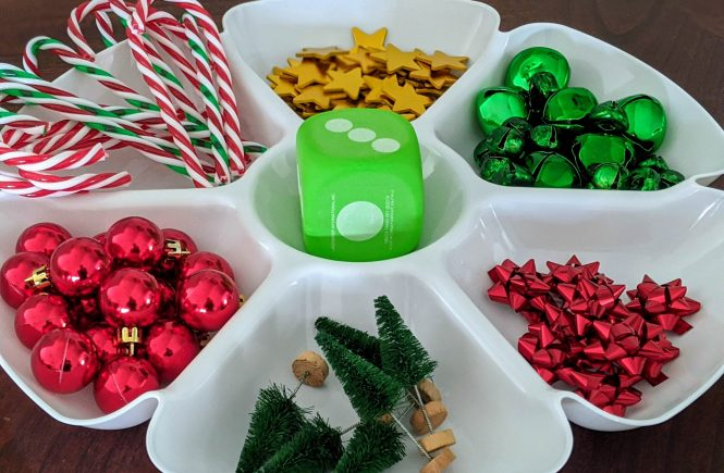 Christmas counting game for kids