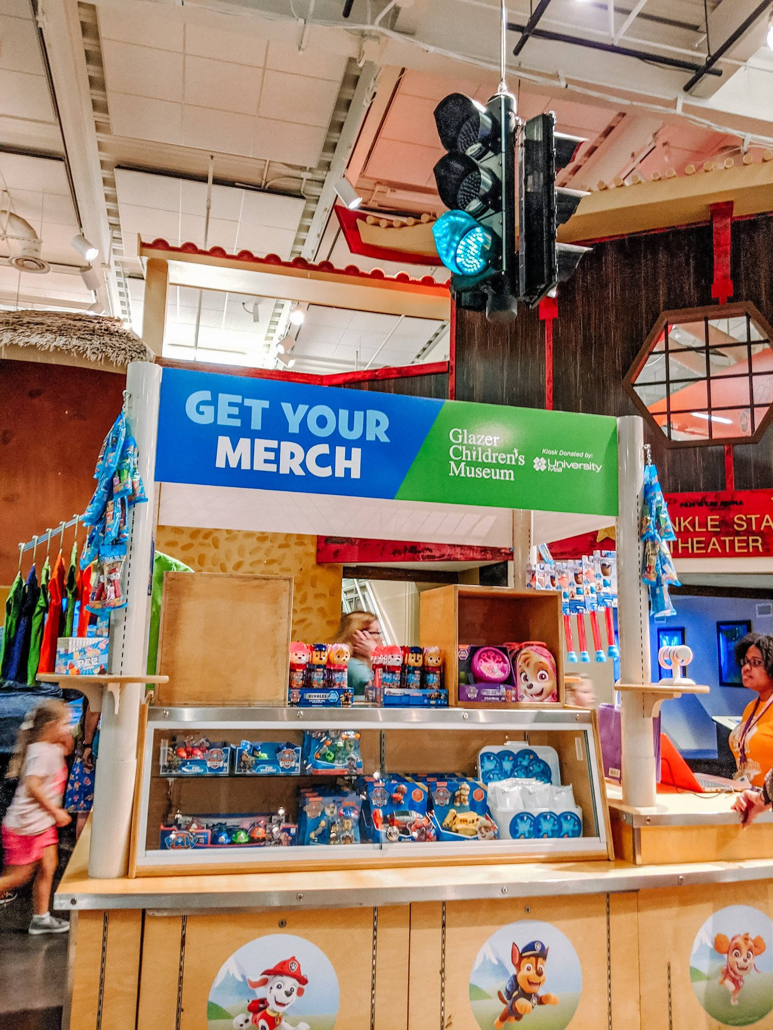 merchandise for sale at children museum
