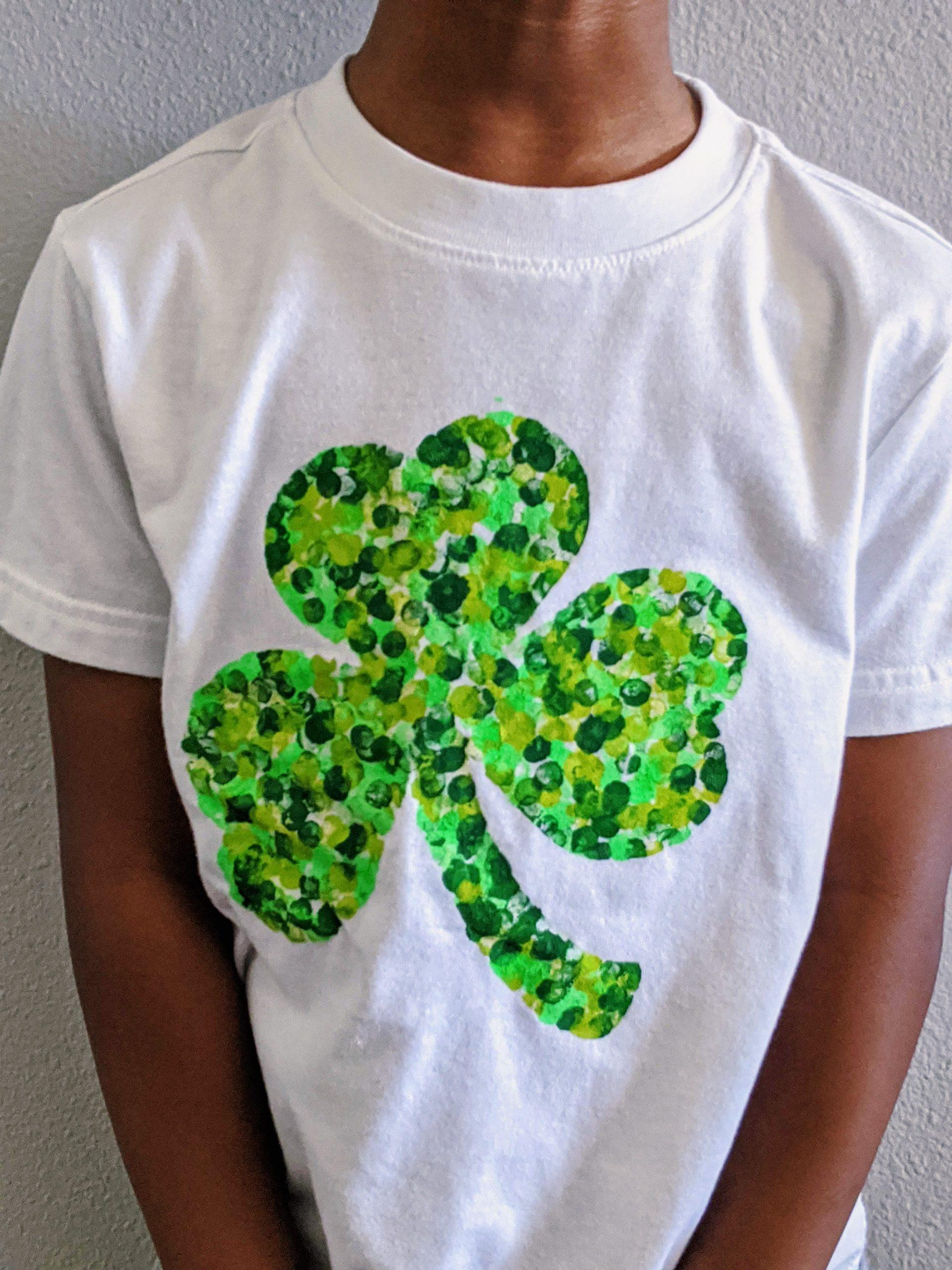 DIY shamrock shirt for St. Patrick's Day