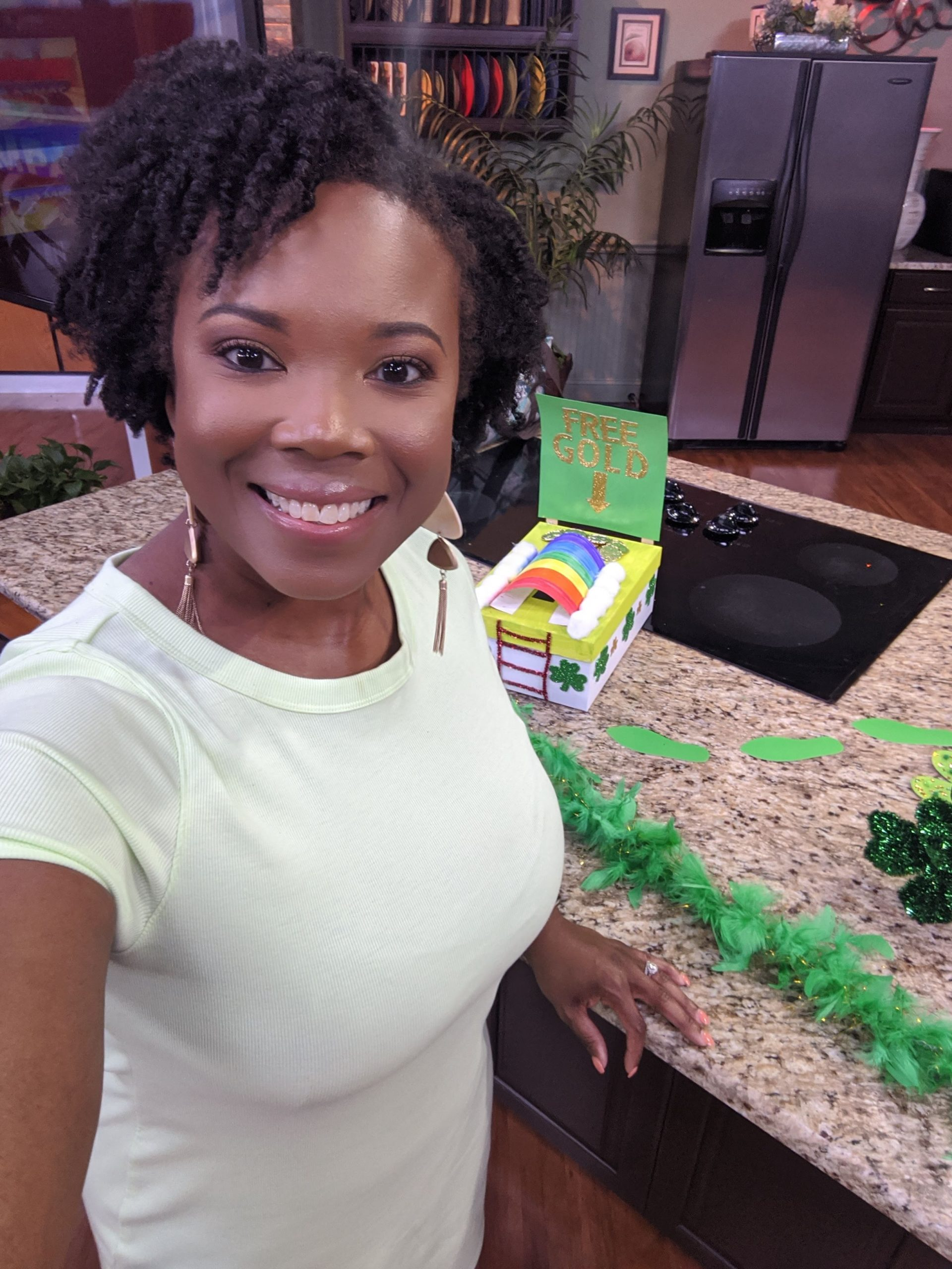 Blogger for Crafting a Fun Life at the Fox 13 News studio