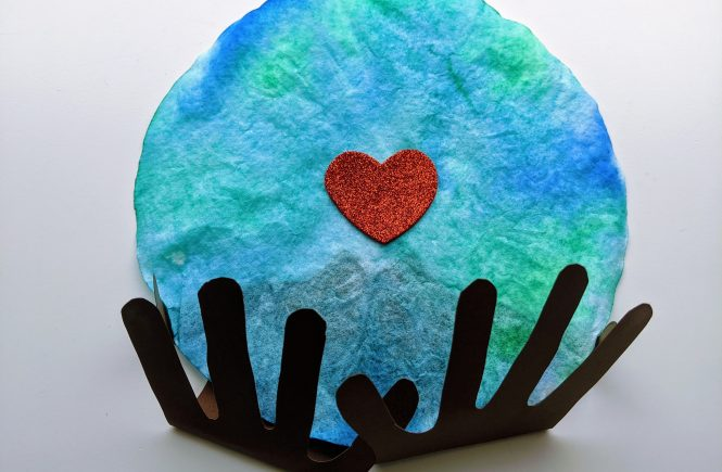coffee filter craft for Earth day