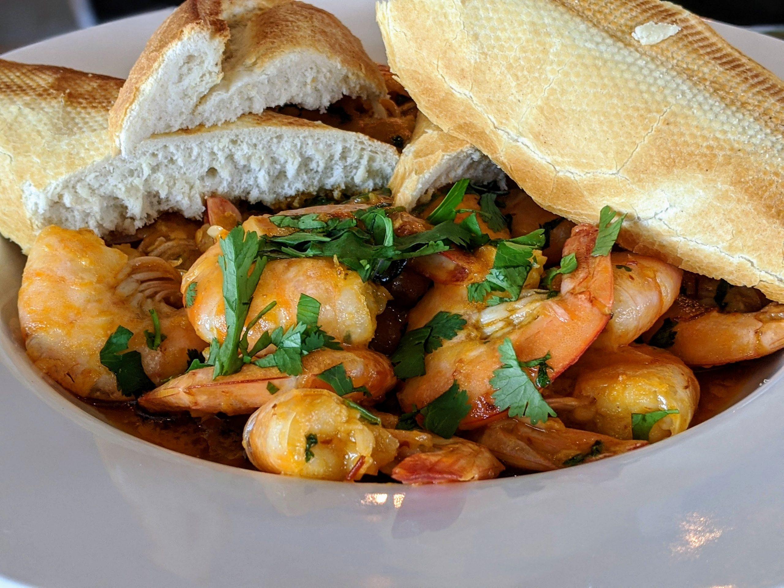 delicious Yucatan shrimp