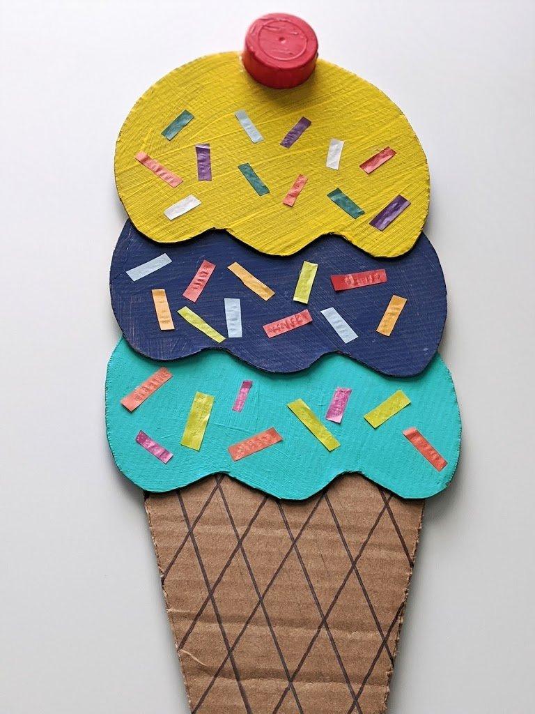 cardboard ice cream cone craft