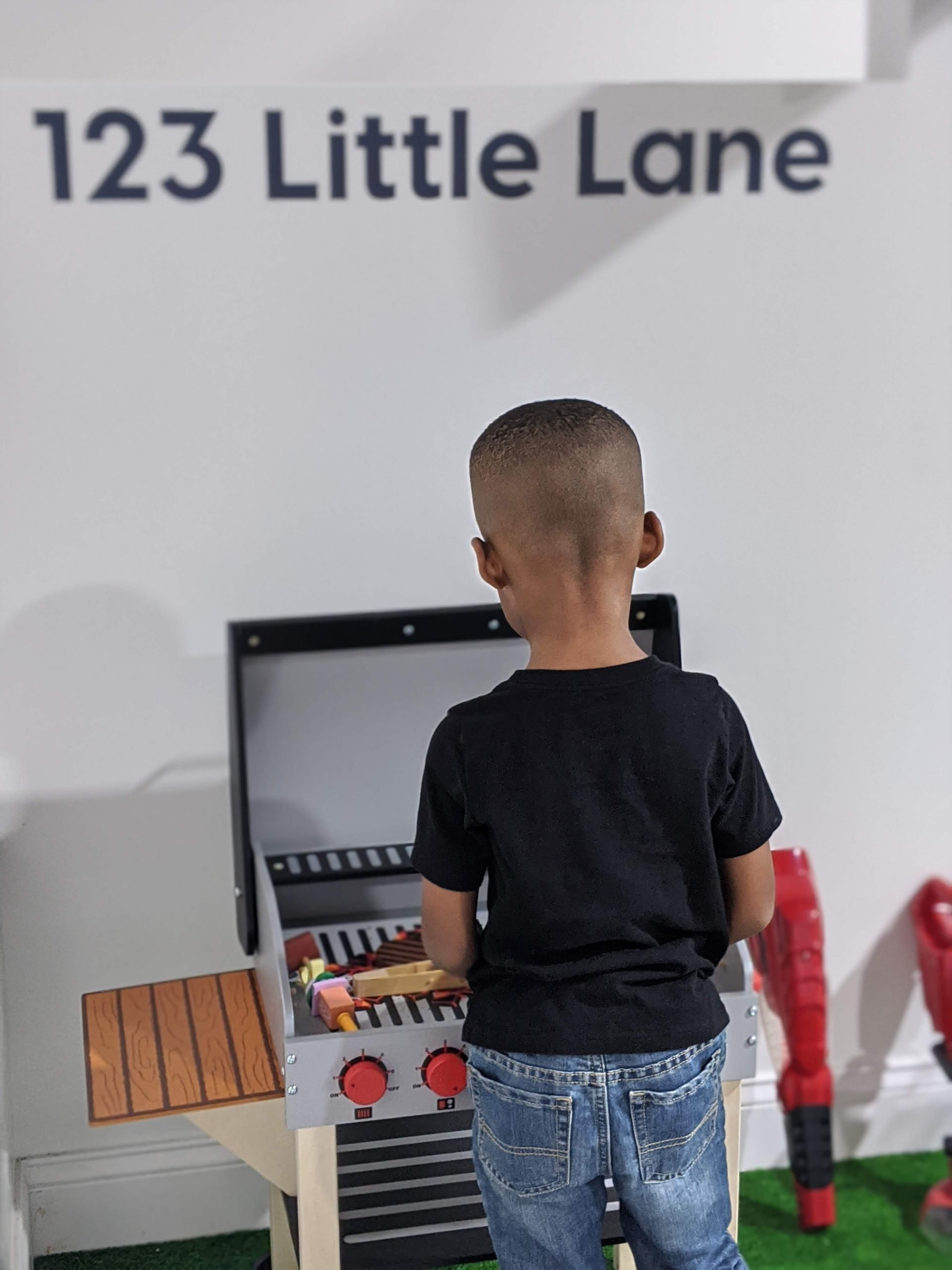 preschooler playing at Little Play Place