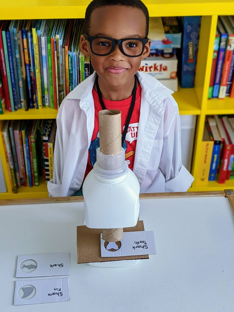 DIY microscope for dramatic play