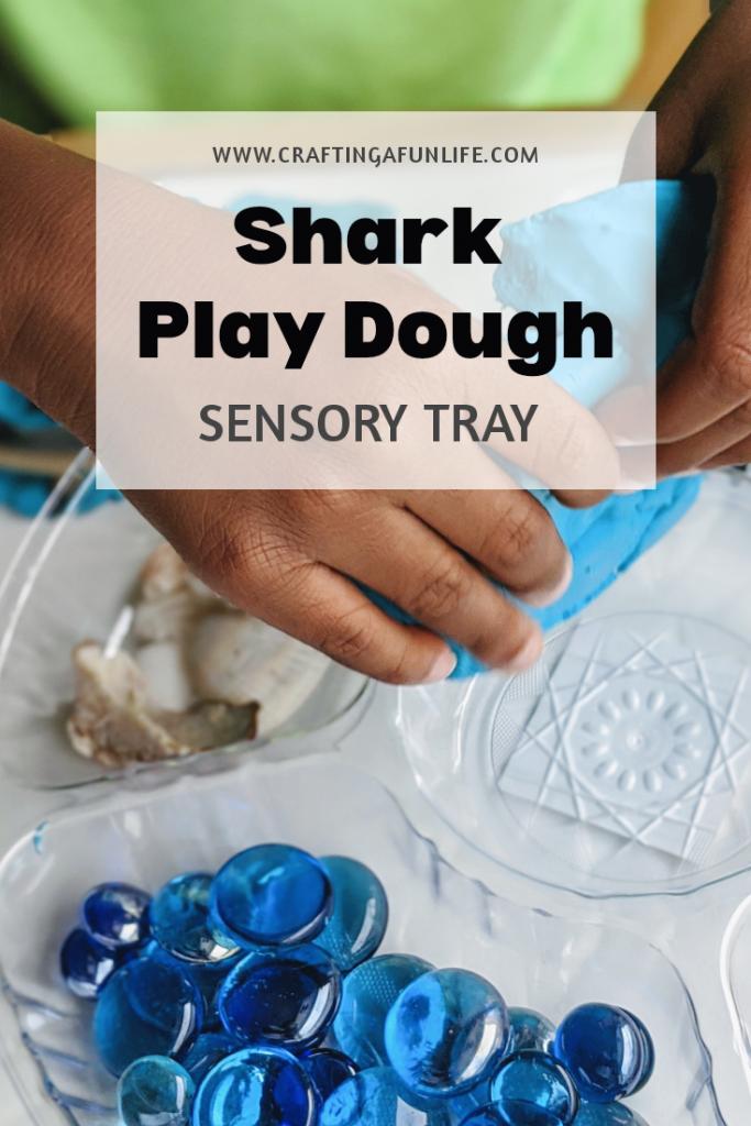 shark play dough sensory activity