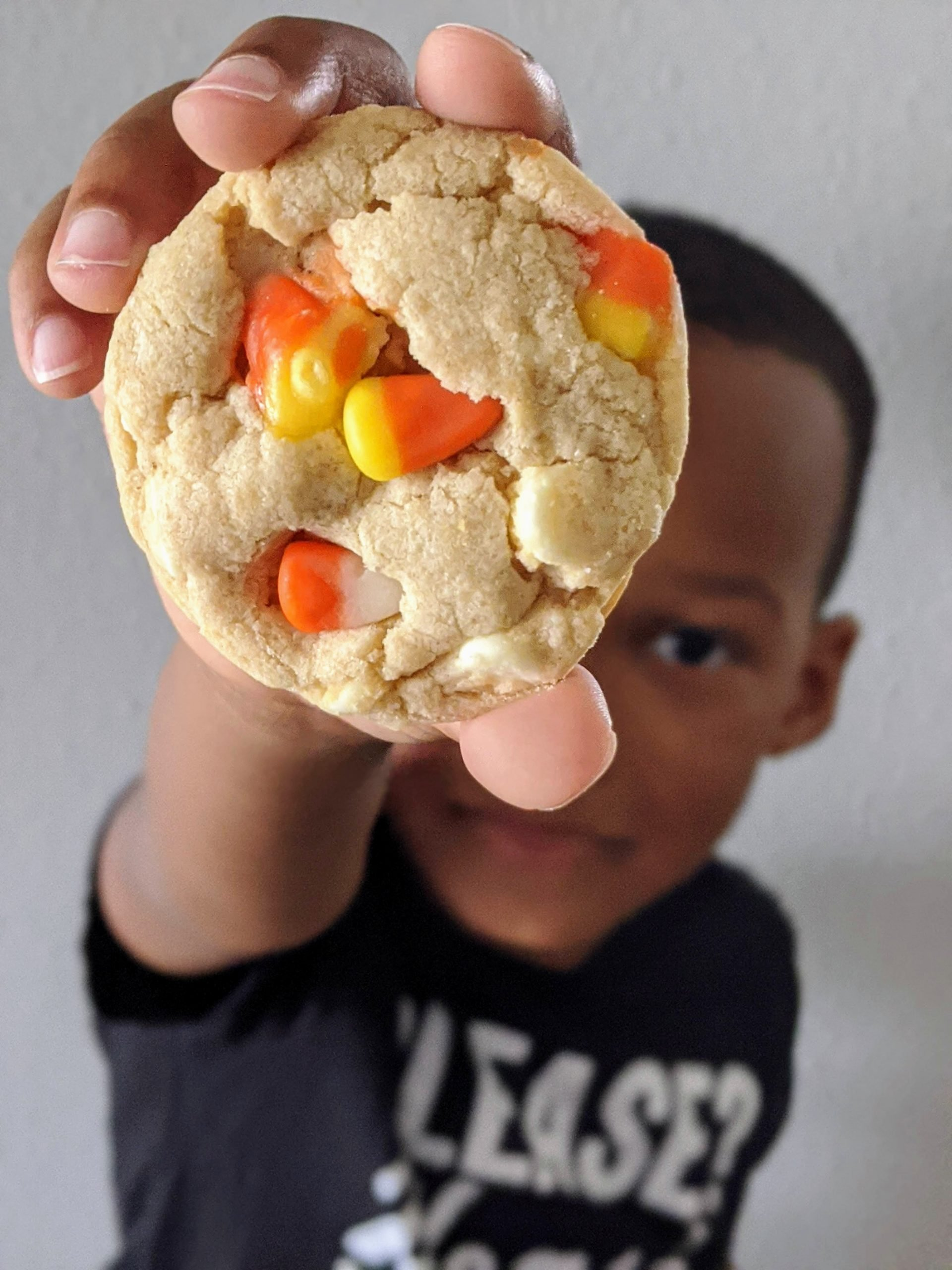 the ultimate candy corn and white chocolate cake batter cookies