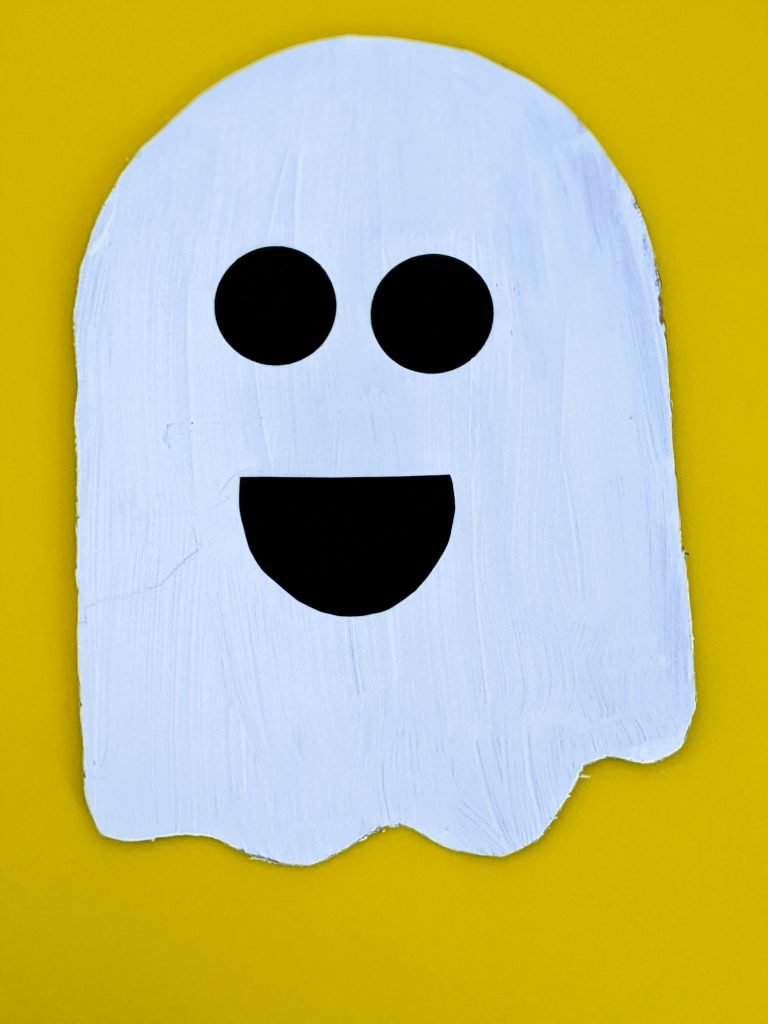 cardboard ghost craft for Halloween