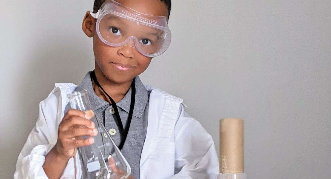 DIY scientist costume for kids