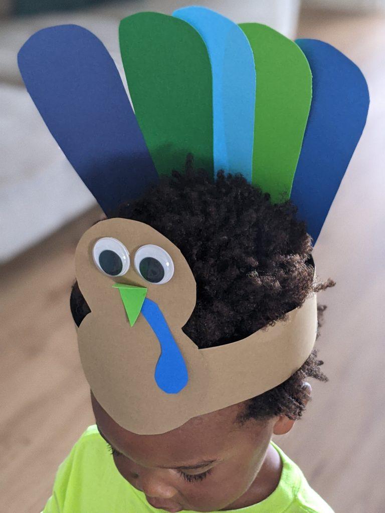 DIY turkey hat for kids