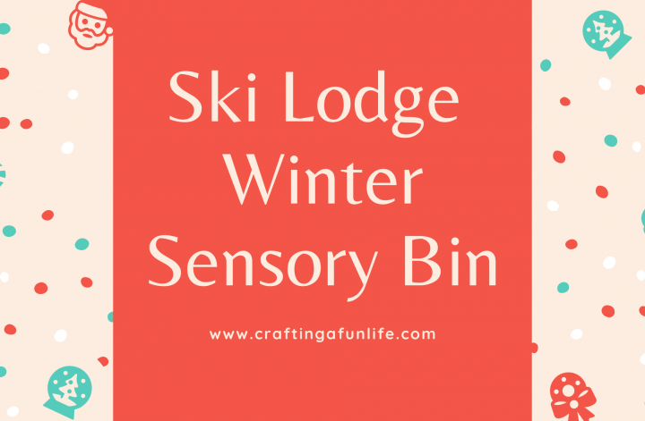 ski lodge winter sensory bin