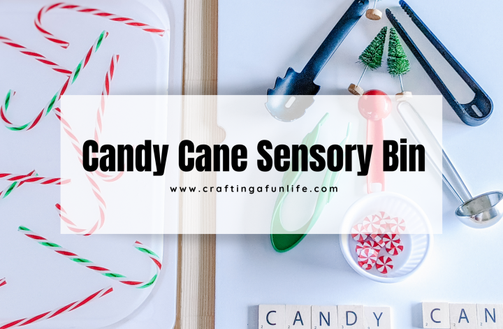 candy cane water sensory play