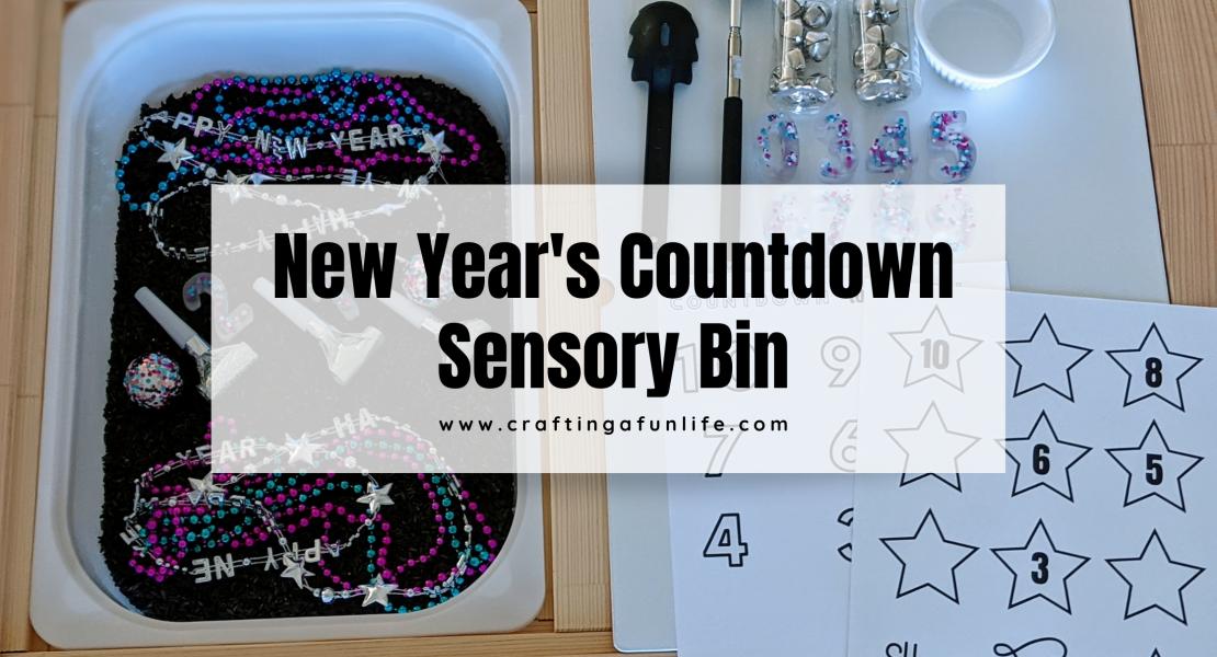 New Year's Sensory Bin featured image