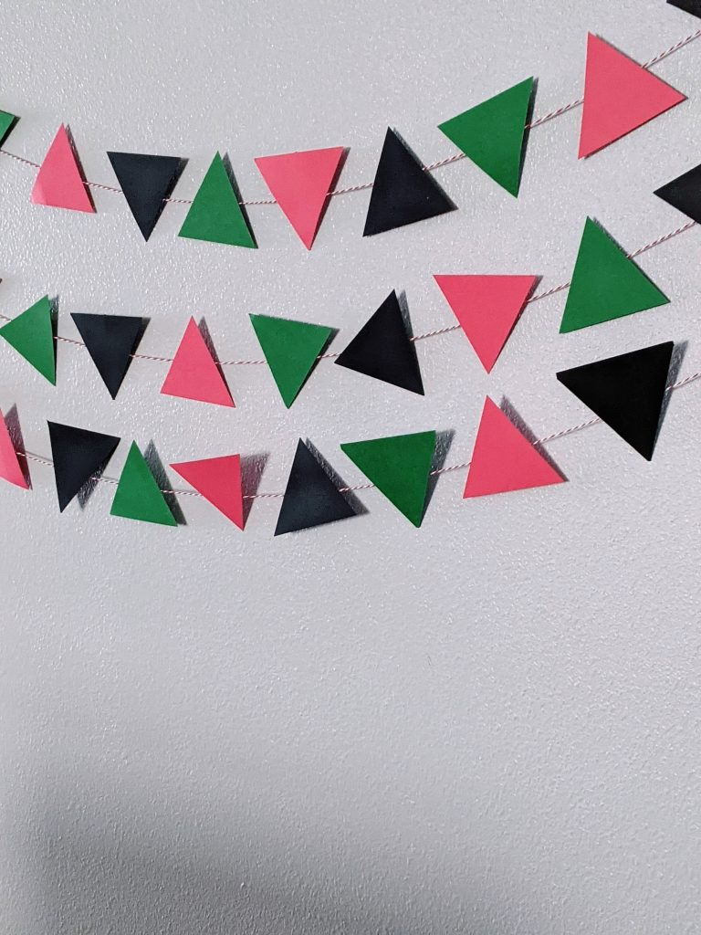 DIY banner for simple craft for kids to celebrate Kwanzaa