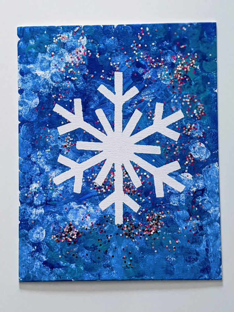 easy to make winter art project