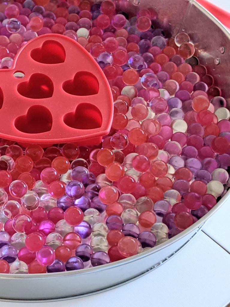 Valentine's Day sensory tray