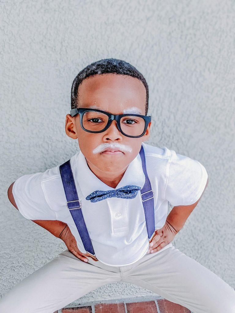 easy DIY grandpa costume