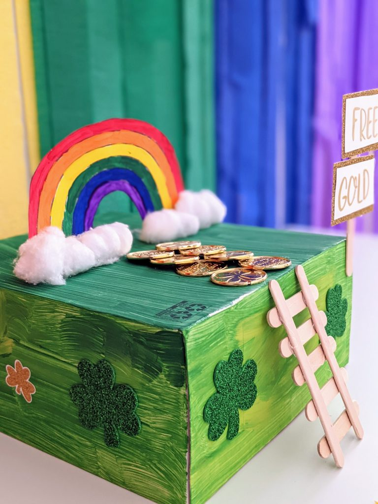 simple leprechaun trap for St. Patrick's Day